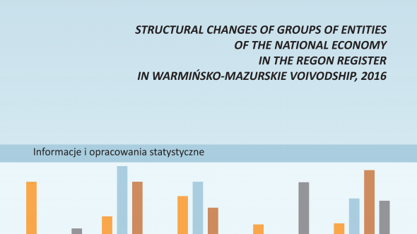 Structural changes of groups of entities of the national economy in the REGON register in warmińsko-mazurskie voivodship, 2016
